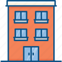 apartments, building, flats, real estate, residential flats icon icon