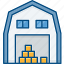 stock, storage, storehouse, warehouse icon icon