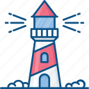 light house, lighthouse tower, sea lighthouse, sea tower, tower house icon icon