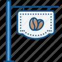 board, brand, cafe, coffee, coffee shope boardicon, shop icon