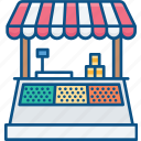 bazaar, booth, cooking, food, snack, stand, sweet shop icon icon