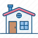 building, city, element, home icon, house, social icon