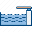 diving, jump, man, pool, swim, swimming, water pool icon icon