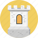 architecture, building, castle, historical, kingdom, medieval, tower icon