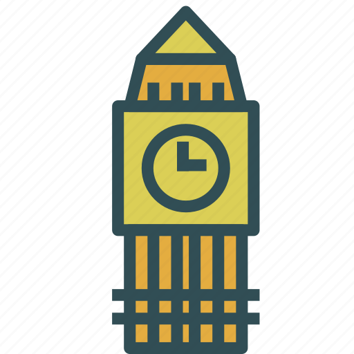 bigben, building, tower, watch icon