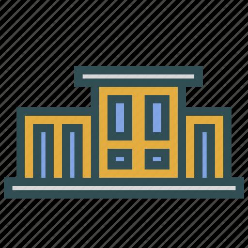 building, company, construction, school icon