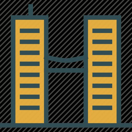 big, building, construction, double, duplex, skyscraper icon
