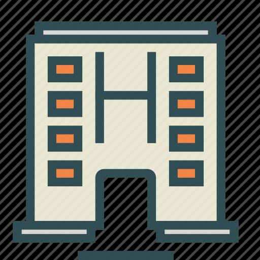apartment, building, construction, hospital, shape, storey icon