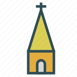 building, church, construction, cross icon