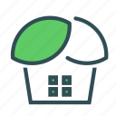 eco, green, house, leaf icon