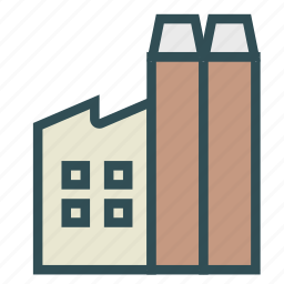 building, construction, factory, production icon