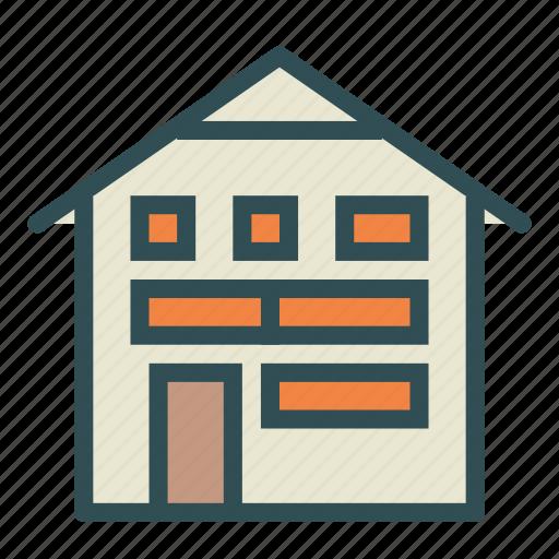 big, building, construction, home, house, villa icon