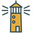 construction, house, light, ocean, sea, tower icon