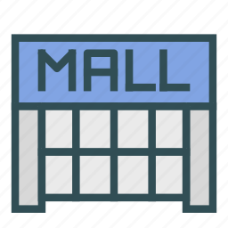 building, complex, construction, mall, shop icon