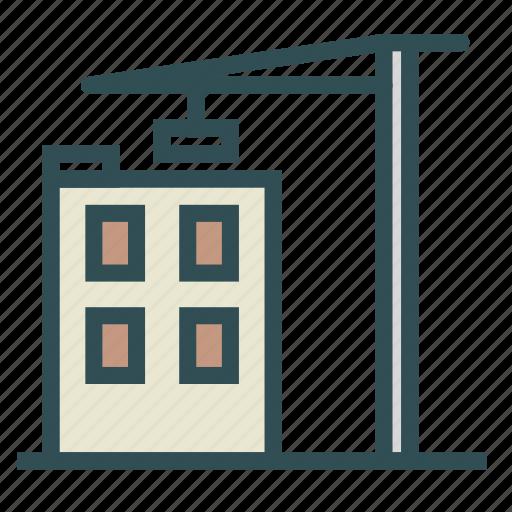 building, construction, crane, storey, work icon