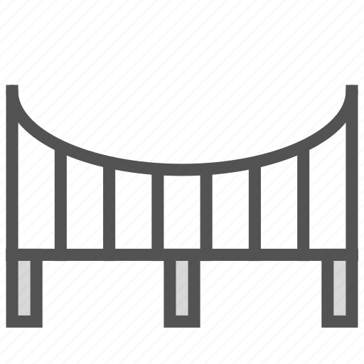 bridge, river, road, vehicle icon