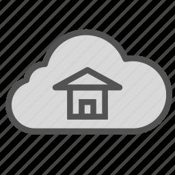 cloud, dream, home, house icon