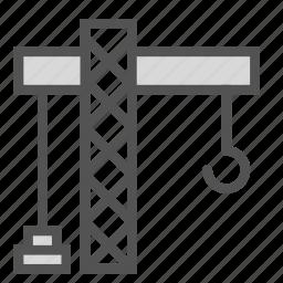 big, building, construction, crane, equipment icon