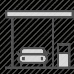 car, fuel, gas, station icon