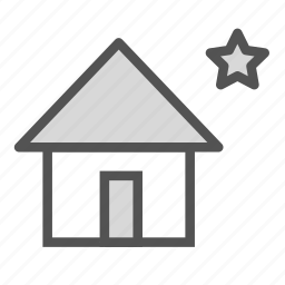 building, construction, home, house, star icon