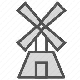 country, farm, mill, windmill icon