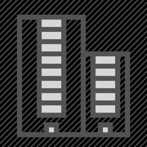 building, complex, construction, duplex, storey icon