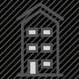 apartment, building, home, villa icon
