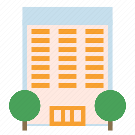 building, complex, construction, house, storey icon