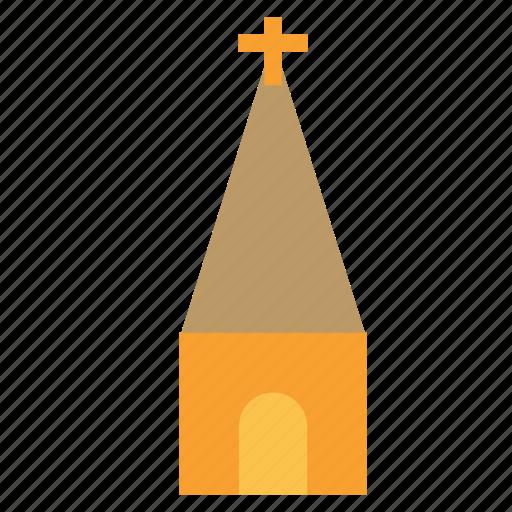 building, church, construction, cross icon