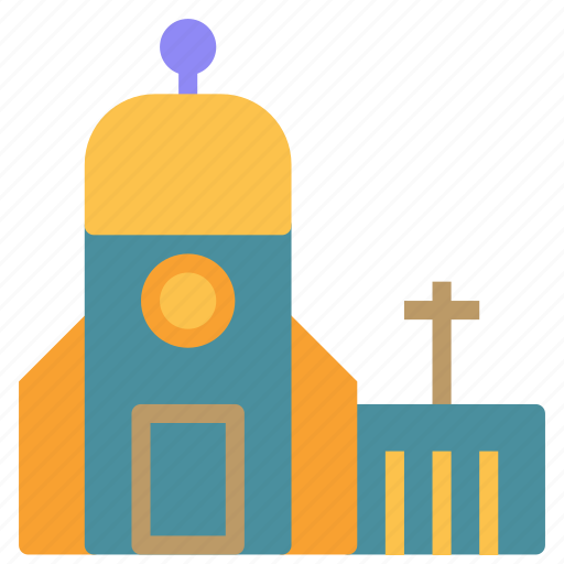 building, church, construction, cross, small icon