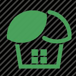 eco, green, house, leaf icon