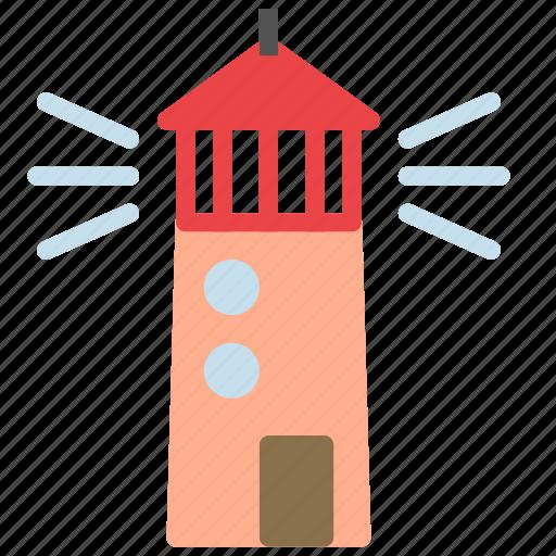 construction, house, light, ocean, sea, tower icon