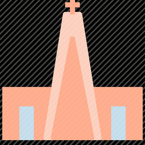 building, church, construction, cross, modern icon