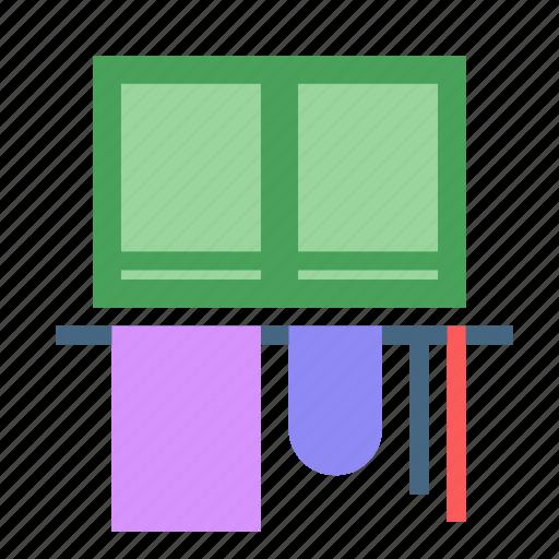 apartment, desk, home, house, room, window icon