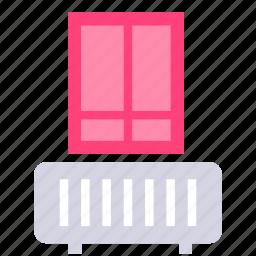apartment, heater, room, window icon