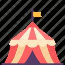 amusement, building, construction, fun, park, recreation, tent icon