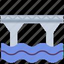 bridge, building, construction, pillar, river, waterway icon
