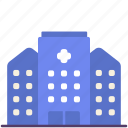 buildings, construction, exterior, healthcare, hospital, medical, place icon
