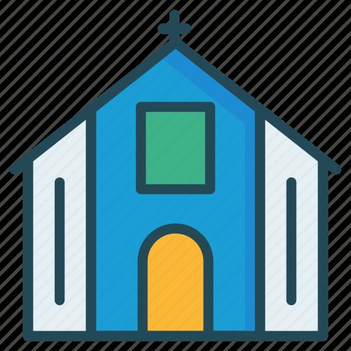 catholic, church, property icon