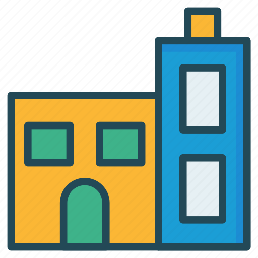 apartment, building, hostel icon