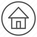 circle, home, house, shape icon