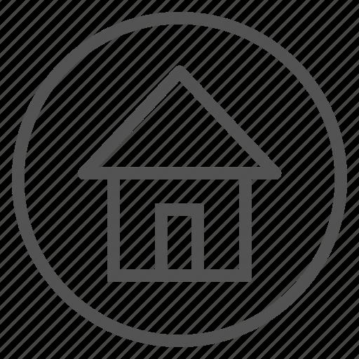 circle, home, house, shape icon