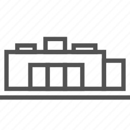 building, company, construction, factory, office icon