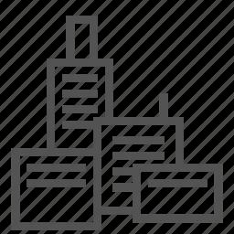 blocks, building, city, complex, construction icon