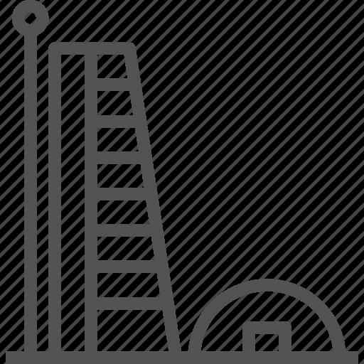 building, construction, modern, pole icon