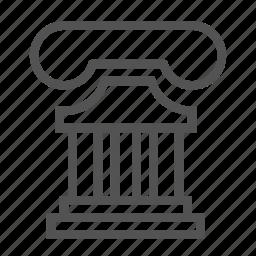 ancient, colosseum, greece, pillar icon