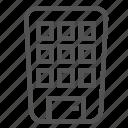 apartment, building, modern, small, storey, uniq icon