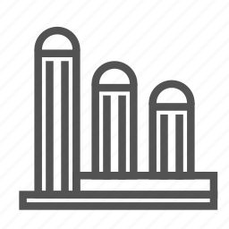 building, construction, tower, triplet icon