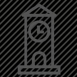 academy, bigben, clock, tower, watch icon