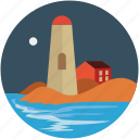 historic, landmark, lighthouse, monument, seaside icon